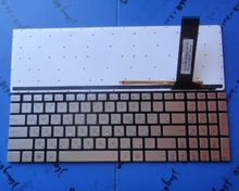 For 100% brand New  for ASUS N550 N550LF N550JV N570 N570J N570JV Silver  US keyboard backlit(China (Mainland))
