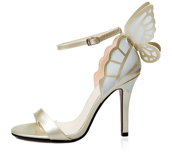2015 European Womenpeep toe heels Colorful butterfly thick heel sandals girls party sandals women modeling high heels FA-8031B(China (Mainland))