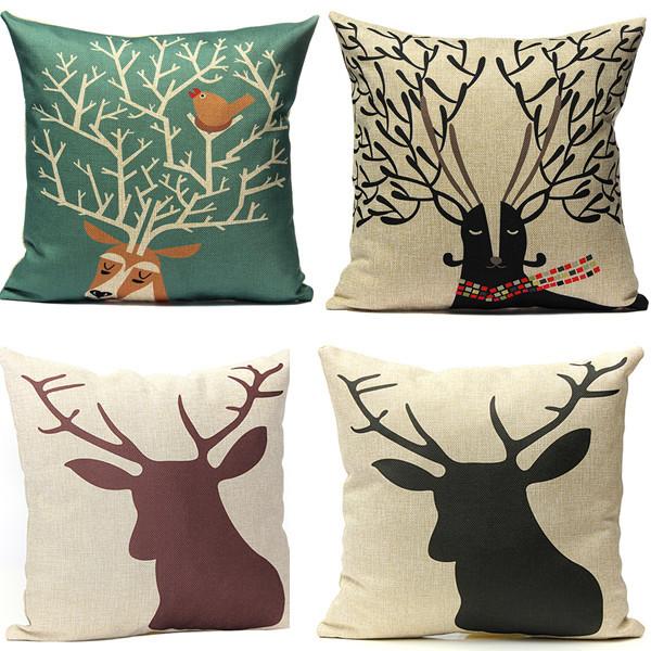 buy cartoon deer panda throw pillow case cushion cover home