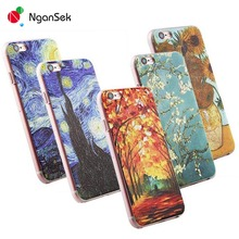 3D Painting Cell Phone Case For iPhone 7 Plus Case for iPhone SE 4 4s 5 5s 6 6s Plus Case Van Gogh Starry Night Phone Case Fone(China (Mainland))