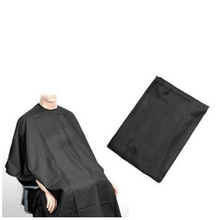 USA Stock! Pro Black Wholesale Salon Hair Cut Hairdressing Barbers Cape Black Gown New(China (Mainland))