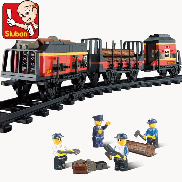 Sluban 0232 Century train station Building Blocks Set freight transport train Bricks Toys compatible with lego<br><br>Aliexpress