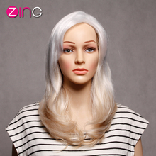 Zing Synthetic Wigs For Black Women Long White 613 Heat Resistant Hair Fiber Women's Wigs Hand And Machine Made Synthetic Women (China (Mainland))
