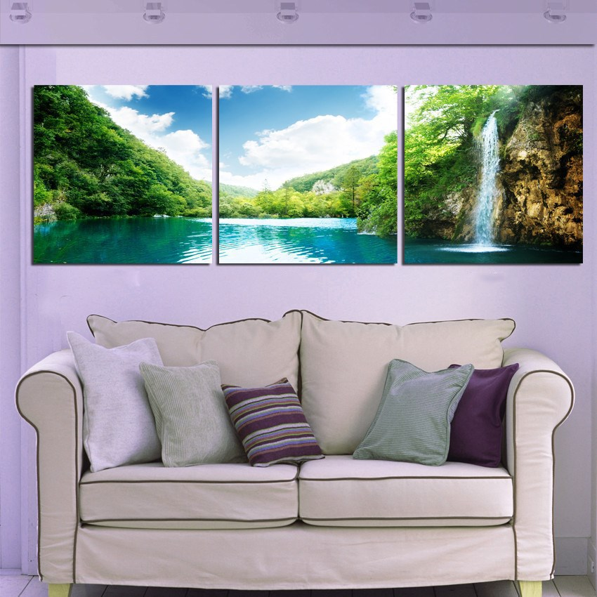 belle paysage toile peinture moderne vintage peinture murale art photo peinture sur toiles pour. Black Bedroom Furniture Sets. Home Design Ideas