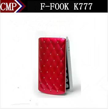 "Original F-FOOK K777 Flip Mobile Phone 2.4"" Screen Dual Sim MP3 Camera FM Bluetooth Girl Russian Keyboard Arabic Keyboard(China (Mainland))"