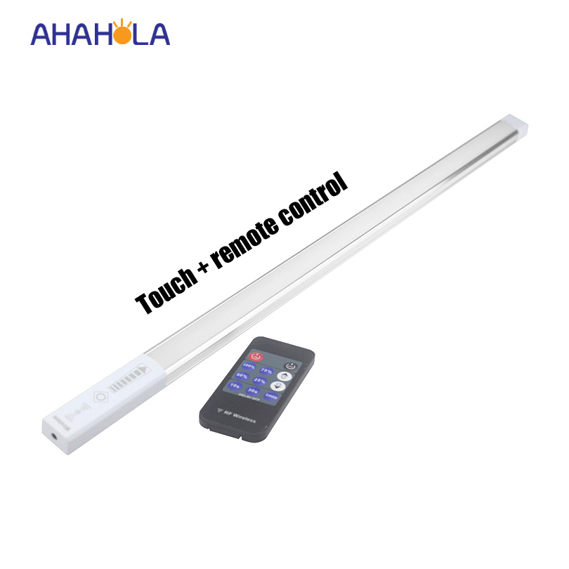 12v 50cm led bar light touch switch led kitchen light under cabinet smd 2835 hard rigid led strip aluminum profile rf control(China (Mainland))