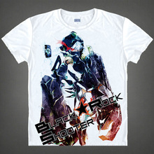 Black Rock Shooter Mato Kuroi T shirts Japanese anime shirt 3d print Cosplay tshirt Men's t-shirt camisas hombre masculina