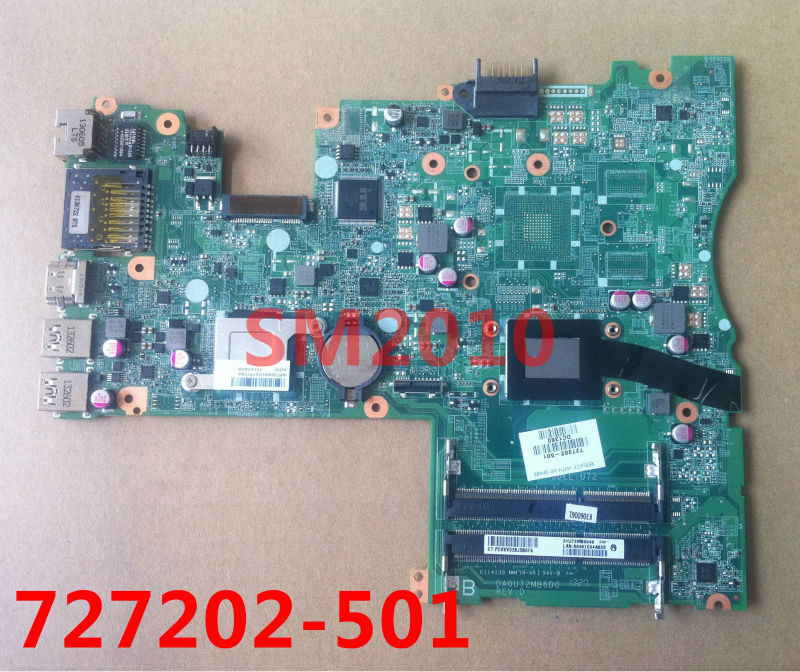U72 Laptop motherboard 727202-501 for HP Pavilion 14 touchsmart computer TS 14 Sleekbook mianboard DA0U72MB6D0 100% tested(China (Mainland))