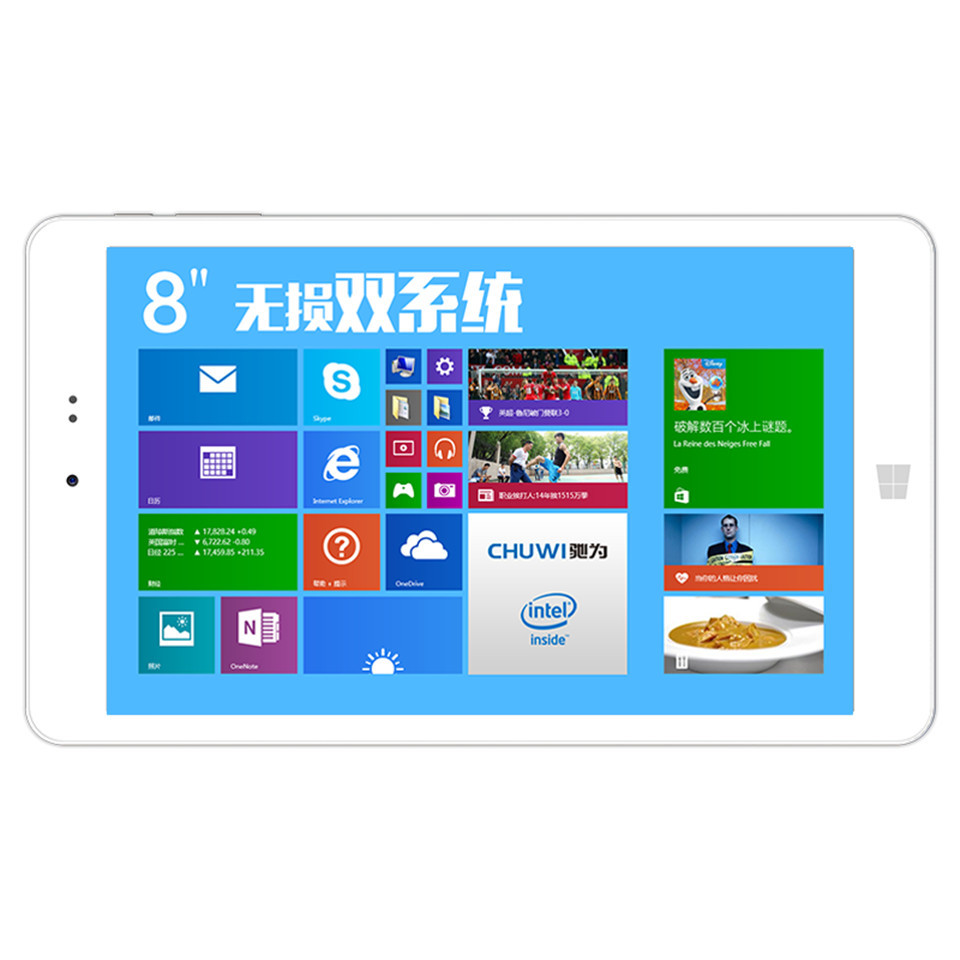 original Chuwi Vi8 Dual OS Tablet PC 8 inch Z3735F Quad Core Windows 8 1 Android