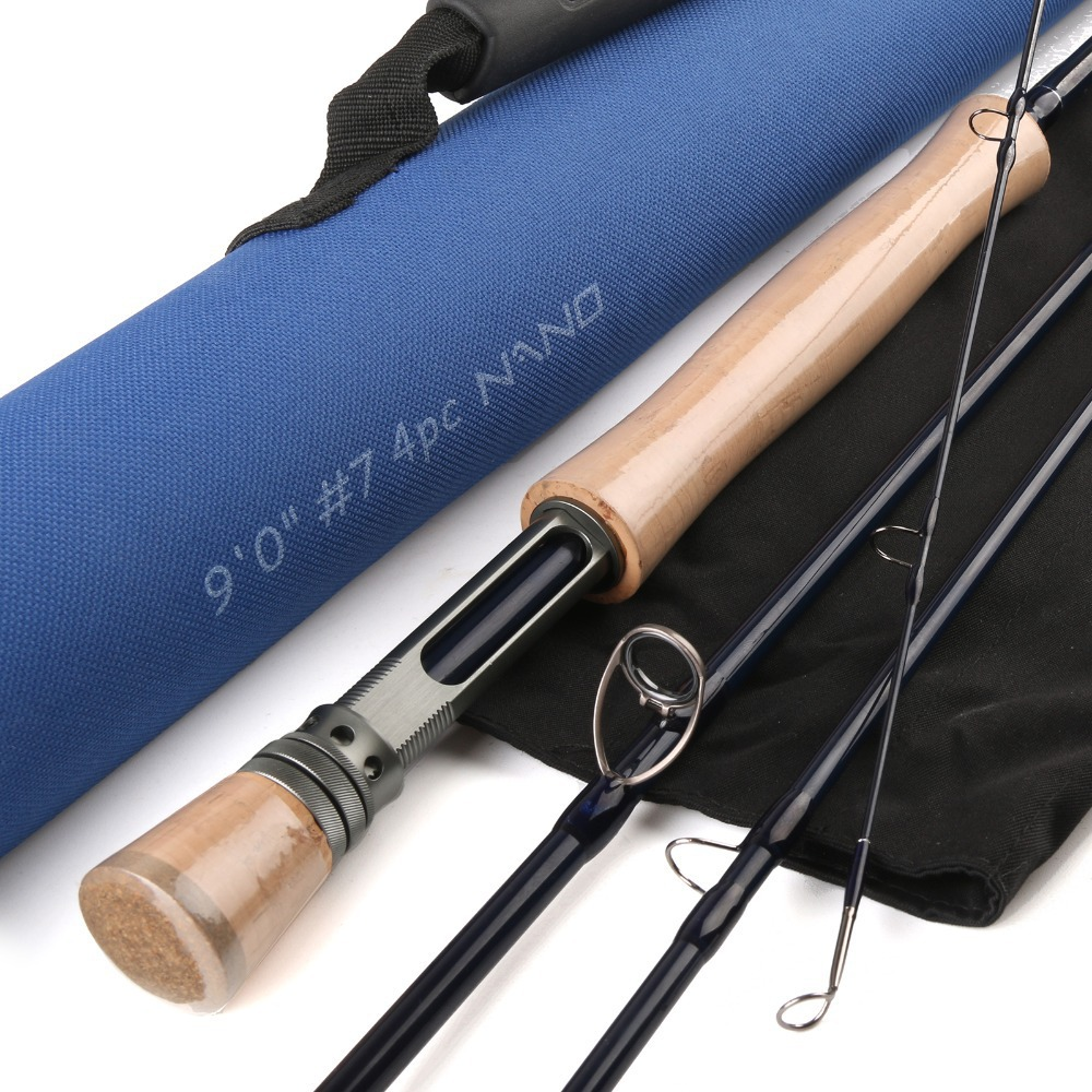 Free Shipping Best Large Arbor CNC Reel And IM12 Carbon Fly Rod Fly Fishing Line Fly