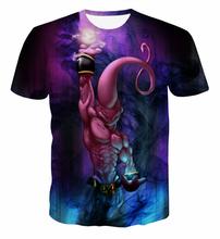 Kid Buu Destruction Tees Classic Dragon Ball Z Majin Buu t shirts Harajuku Tee Shirts Men Women Hipster 3D t shirt Fashion Tops
