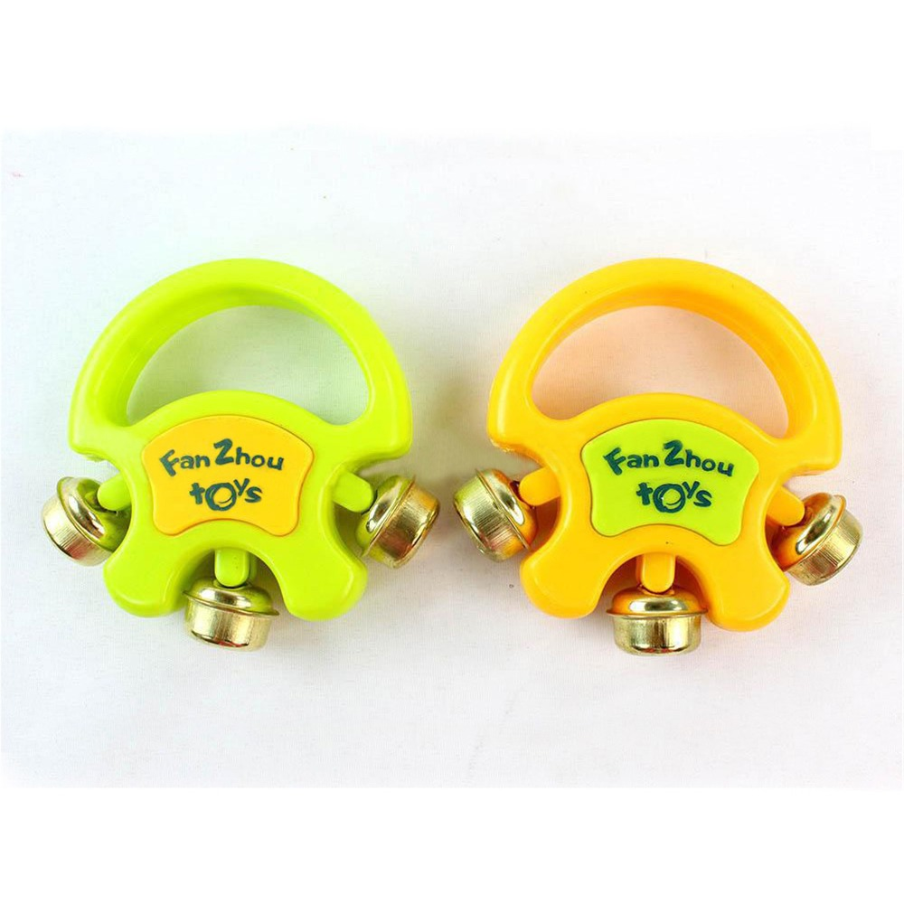 Baby Toys Fun Hand Bell Rattles Baby Rattles Develop Intellectual Novelty Toys Plastic Baby Grasping Hand Bell Rattles(China (Mainland))