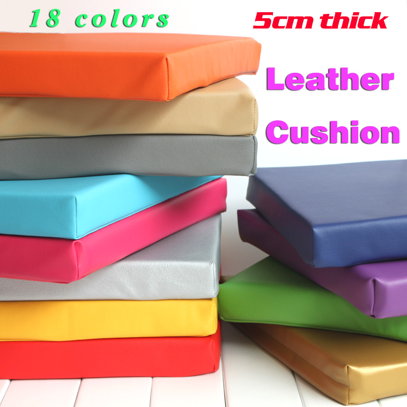 Synthetic leather cushion foam cushion office cushion for Comfy kussen