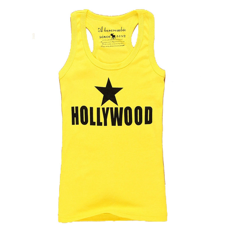 Brand New 2015 Summer Star Tank Top Fashion Sleeveless Camisole Casual Women's Tanks Tops Vests T-Shirt Free Shipping YNN(China (Mainland))