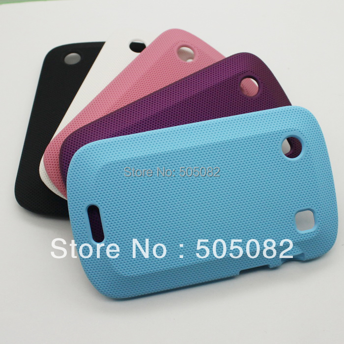 mesh High quality Back Hard Case skin Cover for Blackberry Bold Touch 9900 black/ sky blue/pink/white/purple+free shipping(China (Mainland))