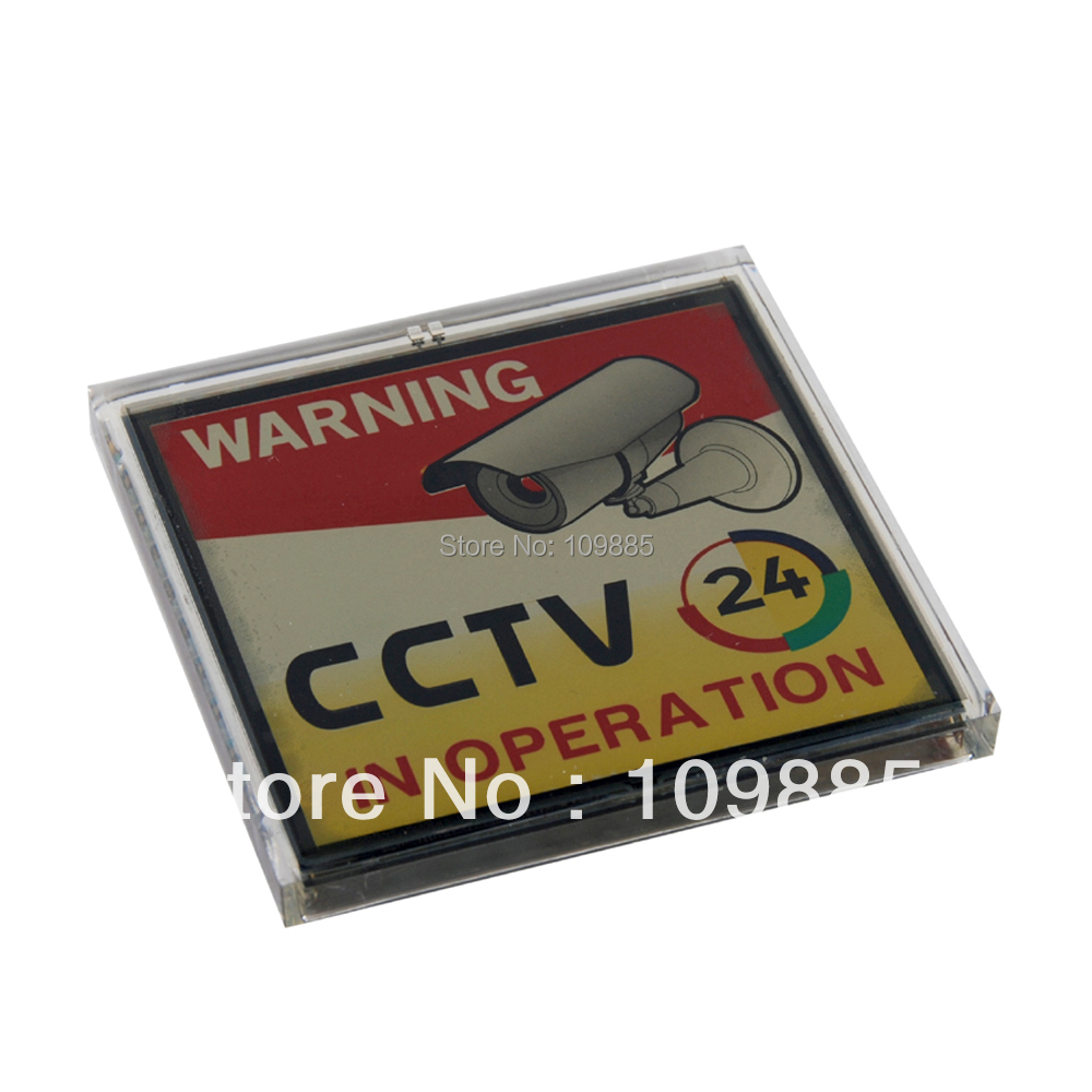 Free Shipping!3.15 x 3.15in Solar Powered Flashing Warning Video Recording CCTV Sign(China (Mainland))