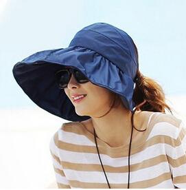 2015 Summer Womens Wide Brim Beach Sun Hat Fashion Chapeu Feminino Foldable CapОдежда и ак�е��уары<br><br><br>Aliexpress