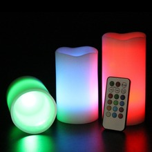 Свадебные украшения свеча света дистанционного управления из светодиодов свеча 3 шт. за комплект с 18 кнопок контроллера