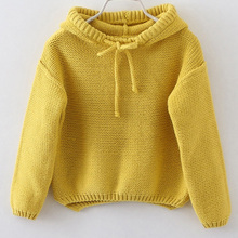 Store Promotion Baby Girls Sweater Cute Fashion Hooded Sweater Autumn and winter sweaters collar hooded warm coat TP0064(China (Mainland))