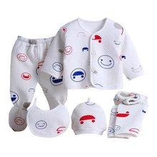 (5pcs/set)Newborn Baby 0-6M Clothing Set Brand Boy/Girl Clothes 100% Cotton Cartoon Underwear baby set - Huan Yin Store store