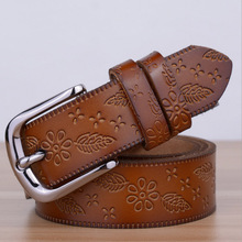 2016 New Designers Luxury Female Strap Waist Brand Genuine Leather Dress Belts for Women Wedding Cowskin for Jeans Pants Brown