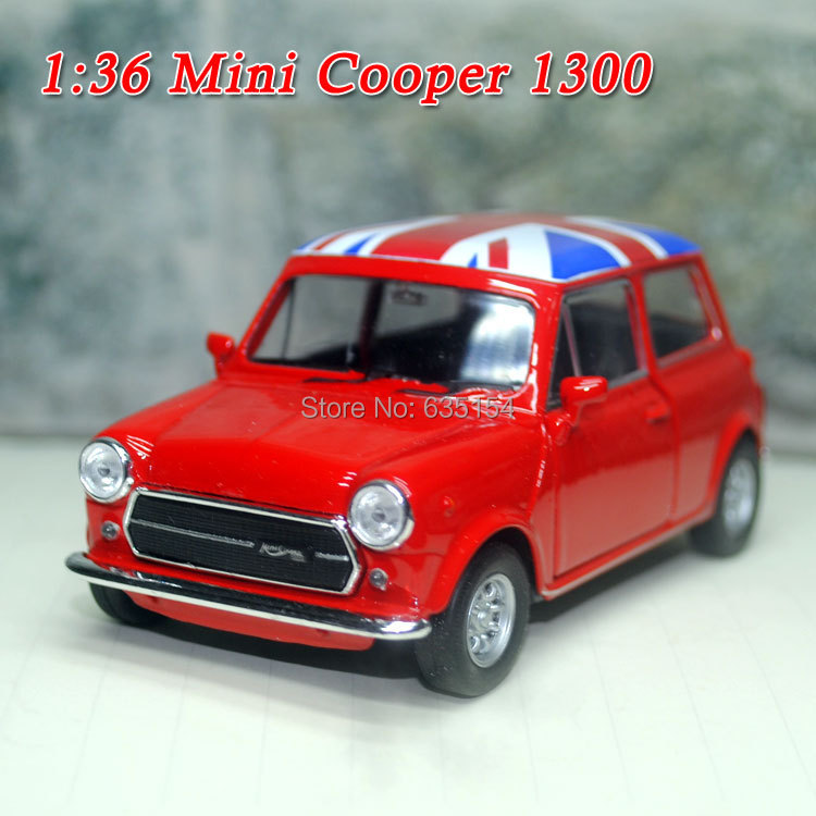 Brand New Cool 1/36 Scale The Union Jack Version Mini Cooper 1300 Red Diecast Metal Pull Back Car Model Toy For Gift/Children(China (Mainland))
