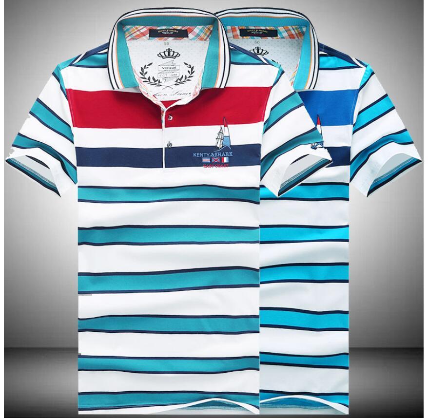 Kenty Shark T shirt men's 2016 short-sleeve new style summer modern fashion business printed pattern gentleman free shipping(China (Mainland))