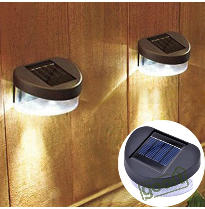 Solar Lights For Retaining Wall : 2 LED Stairway Mount Garden Cool Fence Outdoor Powered Solar Wall Light Lamp Path Yard Wall ...