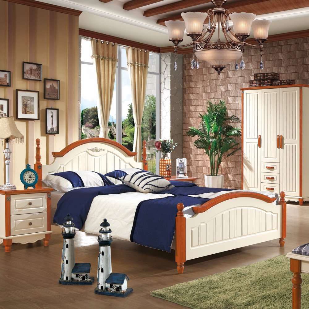 Mediterranean country style home furniture bedroom for Mediterranean style bedroom furniture