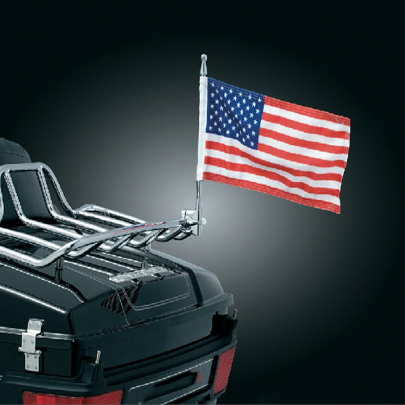 For Harley Touring Road King Glide&FLHT Moto Accessories Hot New Arrive Motorcycle Flag Pole Mount 6 x 9 Flag USA American(China (Mainland))