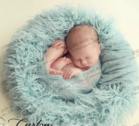 Baby Faux Fur Blanket Basket Stuffer infant  Photography Props Background Newborn Blanket 100*50cm<br><br>Aliexpress