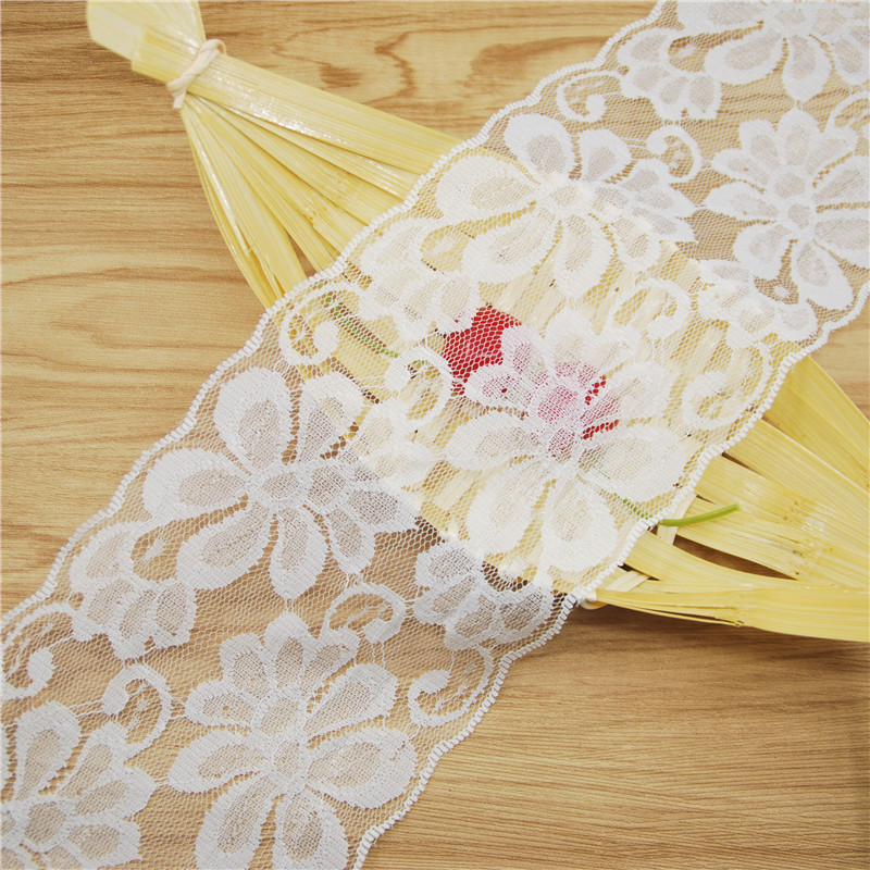 Nice Flower Lace trim 100mm white Lace Fabric Trim Gorgeous Cheap Lace Ribbon DIY Packing Trims Garment Accessories 20yards L966(China (Mainland))