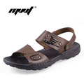 Plus Size Men Sandals Full Grain Leather Slippers Handmade Outdoor Summer Shoes Casual Leather Sandals For