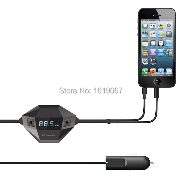 USB 3 In 1 Car FM Audio Radio Transmitter Charger and Hand-free for iPhone 5 5S 5C iPad 4 iPad mini iPod Nano 7 Free Shipping(China (Mainland))