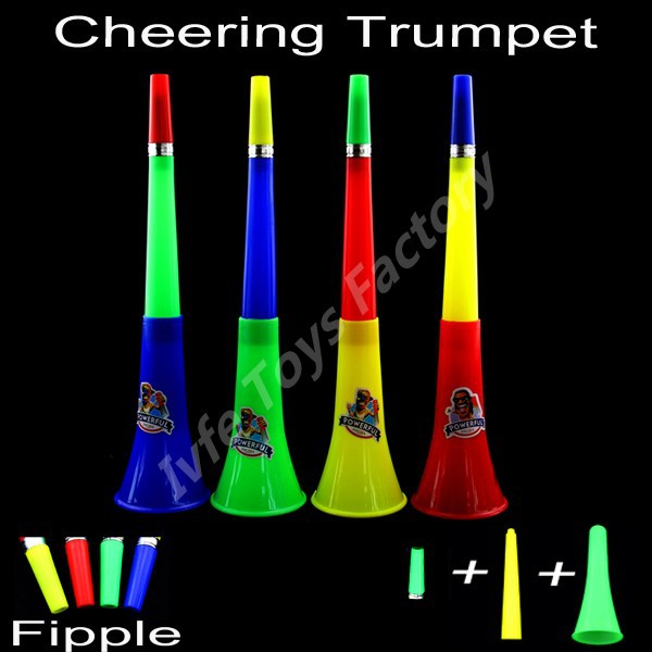 NEW Design VUVUZELA Safe and Non-toxic PP Material Children's Toys Sports Games Small Fipple Football Cheer Horn(China (Mainland))