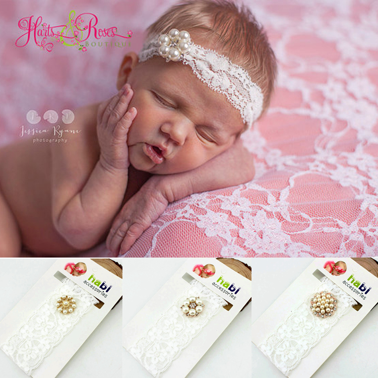 2015 fashion baby head band Rhinestone lace girl headbands kids/children Hair hair wear Accessories(China (Mainland))