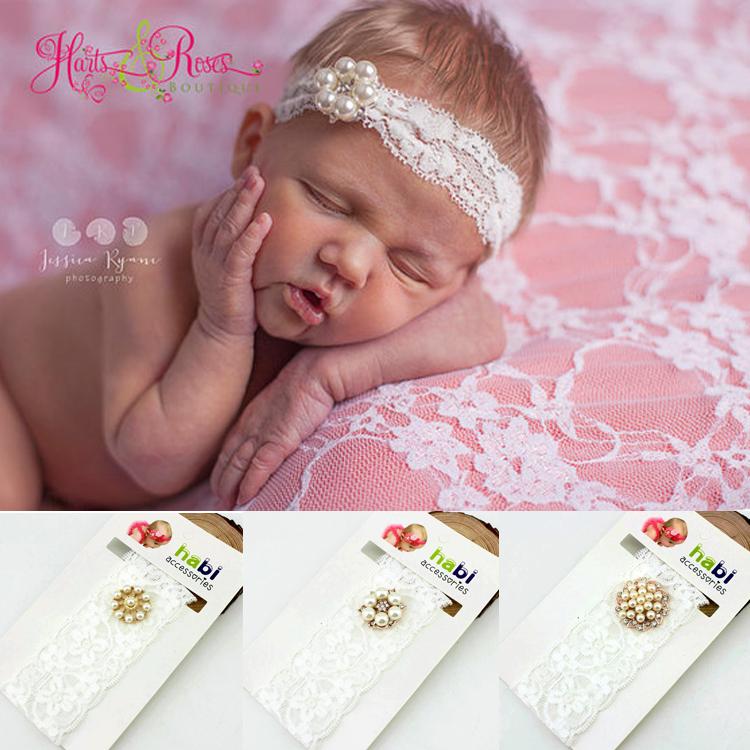 2015 fashion baby head band Rhinestone lace girl headbands kids/children Hair hair wear Accessories(China (Mainland))
