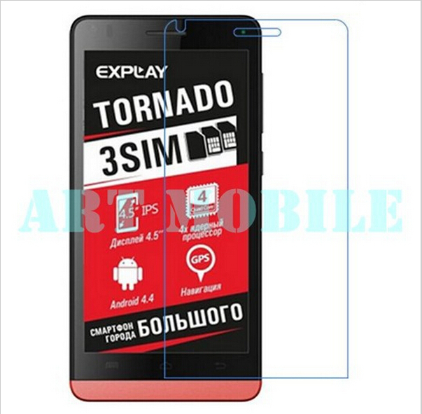 3pcs/lot Transparent Clear LCD Screen Protector For Explay Tornado Protective Film(China (Mainland))