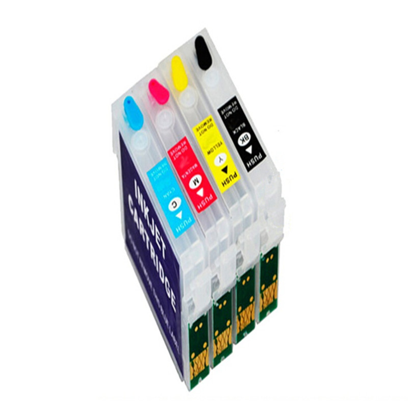 5 sets Empty Refillable ink cartridges  T1271 T1272  T1273  T1274  for EPSON Workforce 630 633 635 60 645 840 845 NX625 NX530<br><br>Aliexpress