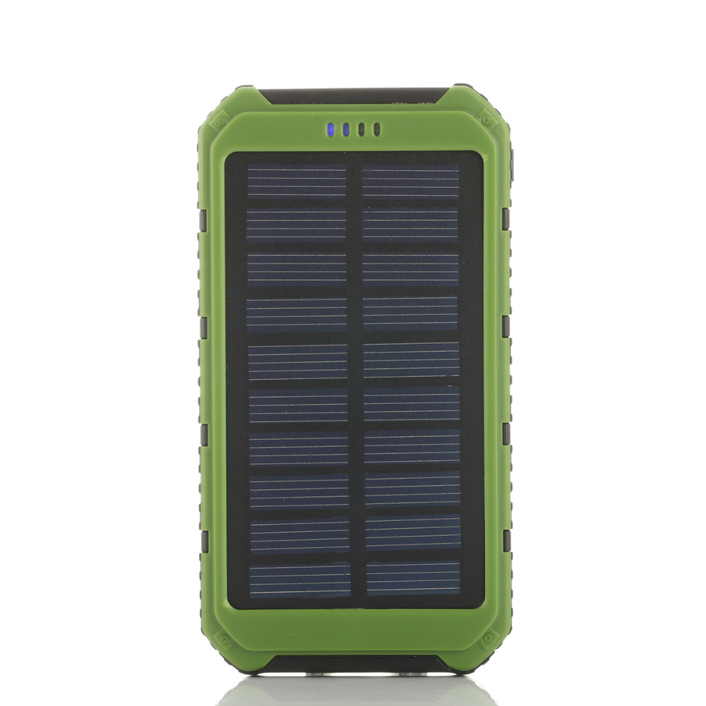6000mAh Portable Solar Power Bank Cargador Solar Panel Battery Externa Solar Cargador Power Bank Charger For iphone Xiaomi