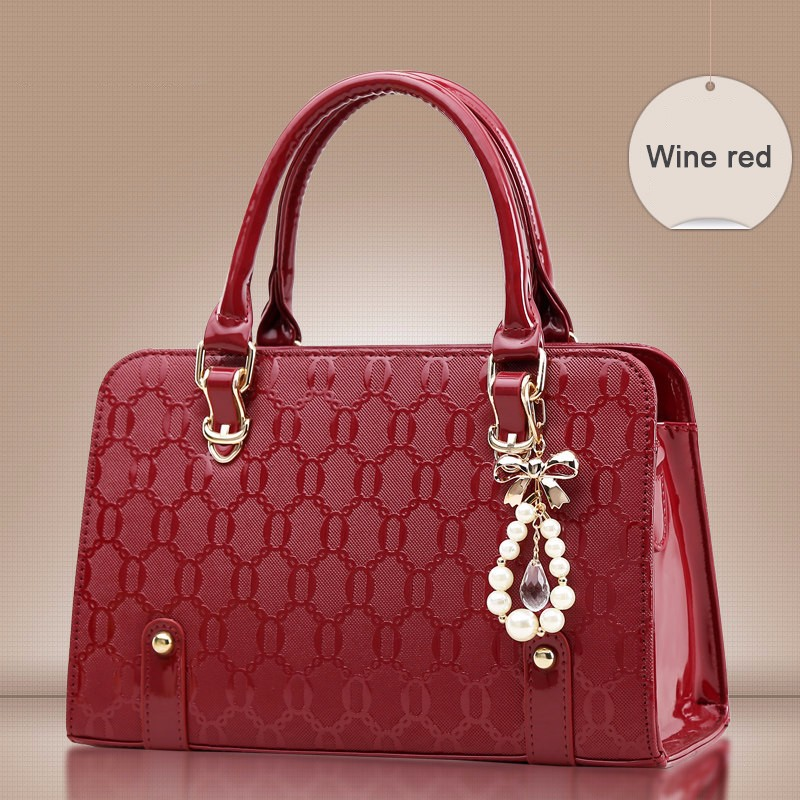 Fashion Embossing PU Leather Luxury Handbag Women Classy Designer Hard Large Bag Ladies Elegant Shoulder Bag