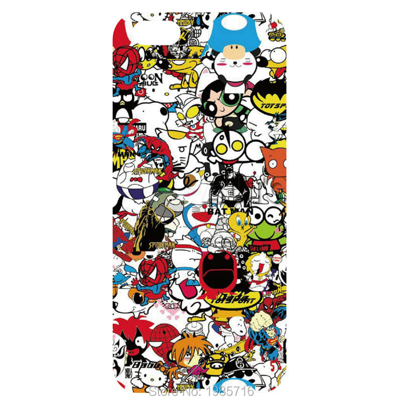 Cute Graffiti Sticker Bomb case cell phone fashion hard back cover for iphone 4 4S 5 5S 5C 6 6s 6plus for samsung s7 s6 s5 s4 s3(China (Mainland))
