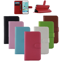 Lichi Texture PU Leather Phone Cases Cover For Alcatel PIXI First 4024D Case Wallet Book Style Conque With Stand Function Shell
