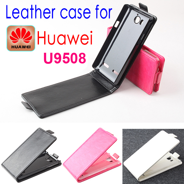 Luxury Original Huawei U9508 Leather Case Flip Cover Cell Phone Accessories Holster Case for Huawei U 9508 Free Shipping(China (Mainland))