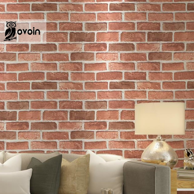 Buy antique embossed textured red brick for Brick wallpaper sale