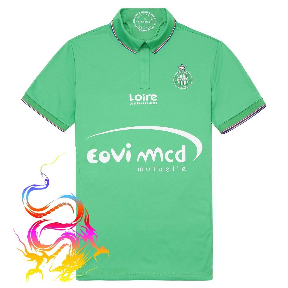 AS Saint Etienne 2016 17 Home Shirt football AS Saint Etienne green home Soccer Jersey AS Saint Etienne home shirt Thai quality(China (Mainland))