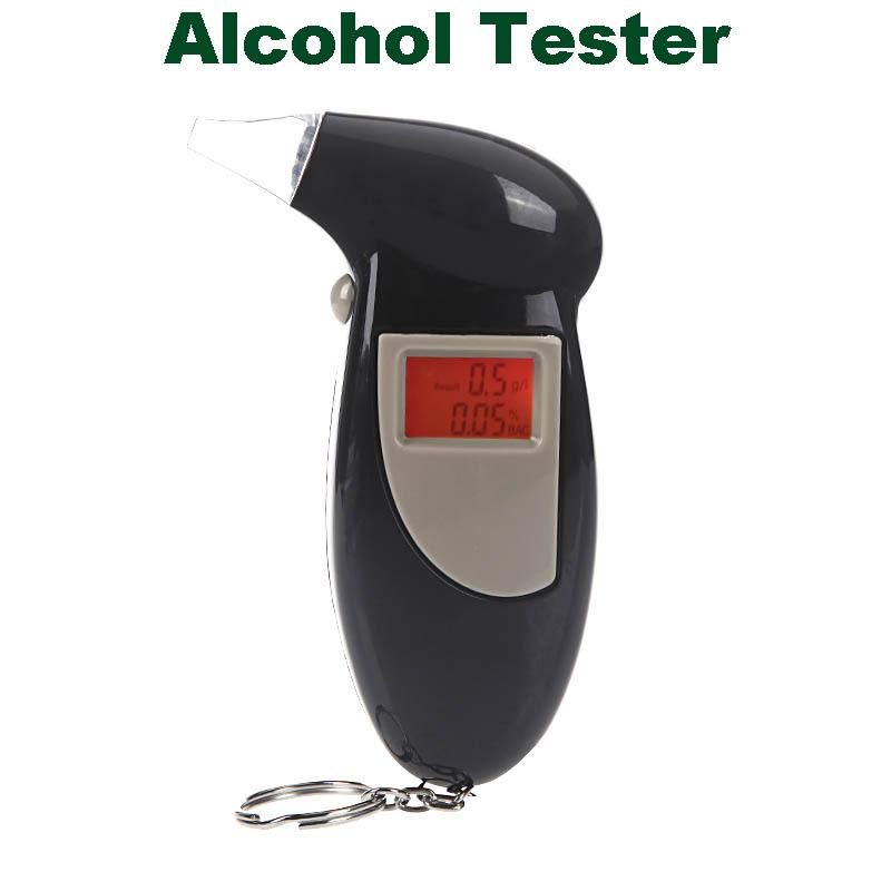 Backlit Display Digital Prefessional Police the Breathalyzer Audible Alert Breath Alcohol Tester Parking Car Detector Gadgets(China (Mainland))