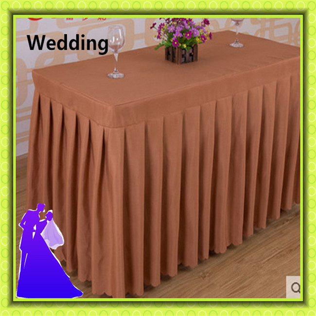 Standard polyester table skirt wedding for party free shipping(China (Mainland))