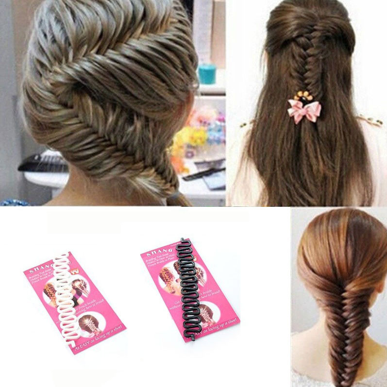 2015 Hot Sell French Braid Tool Quality Magic Hair Roller With Hook Twist Styling Bun Maker Black and White Colors A5R31C(China (Mainland))
