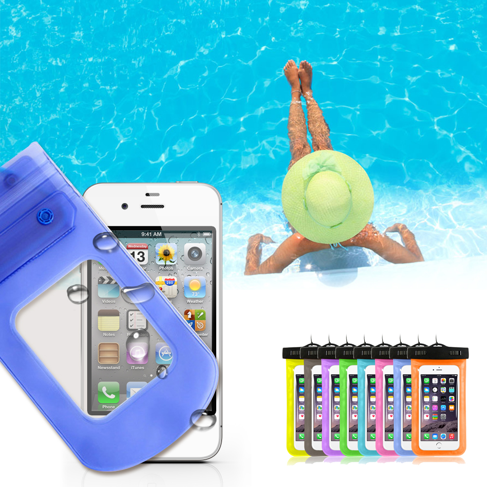 """Waterproof Pouch Dry Case For iPhone 5 SE 6 6s Galaxy Huawei Universal 4.8""""-6.0"""" Mobile Phone Camera Underwater Water proof Bag(China (Mainland))"""